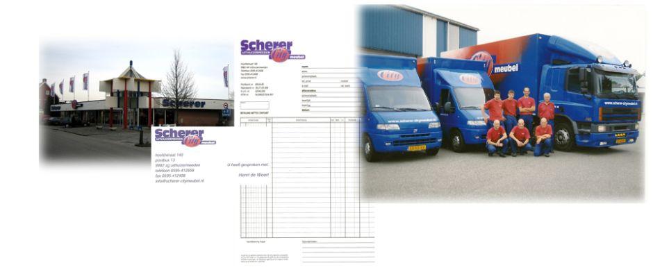 Compilatie tweede huisstijl Citymeubel Scherer