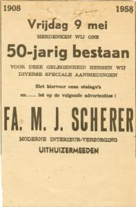 adver 1958 50 jaar Scherer